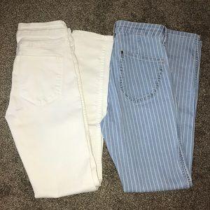 2 pair skinny jeans!!